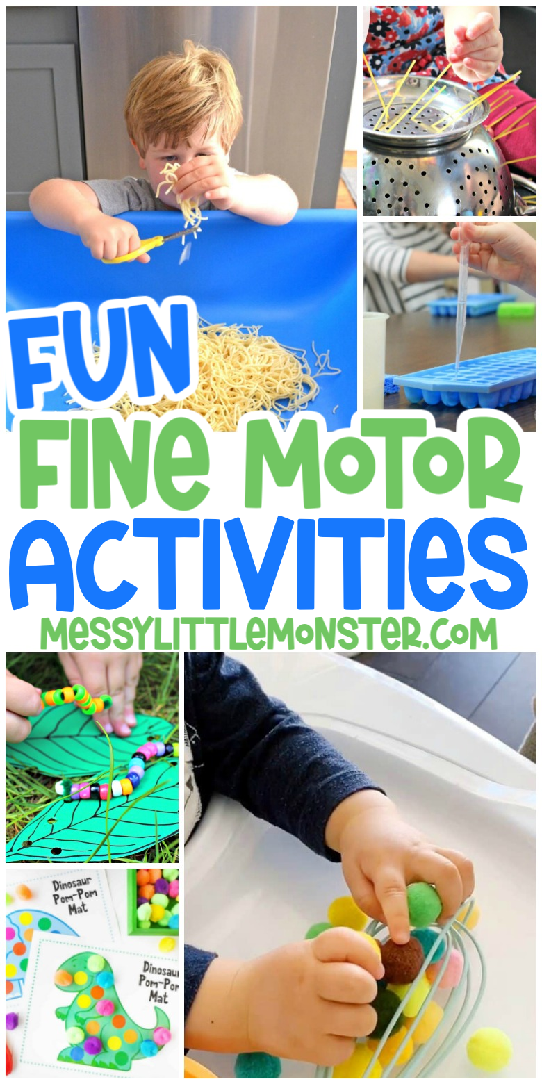 fun and easy fine motor activities for babies, toddlers and preschoolers