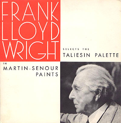 Mad For Mid Century Frank Lloyd Wright Paint Taliesin Palette