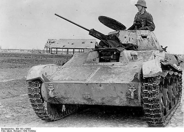 German troops using a captured Soviet T-60 tank at the Kholm pocket 1942  worldwartwo.filminspector.com