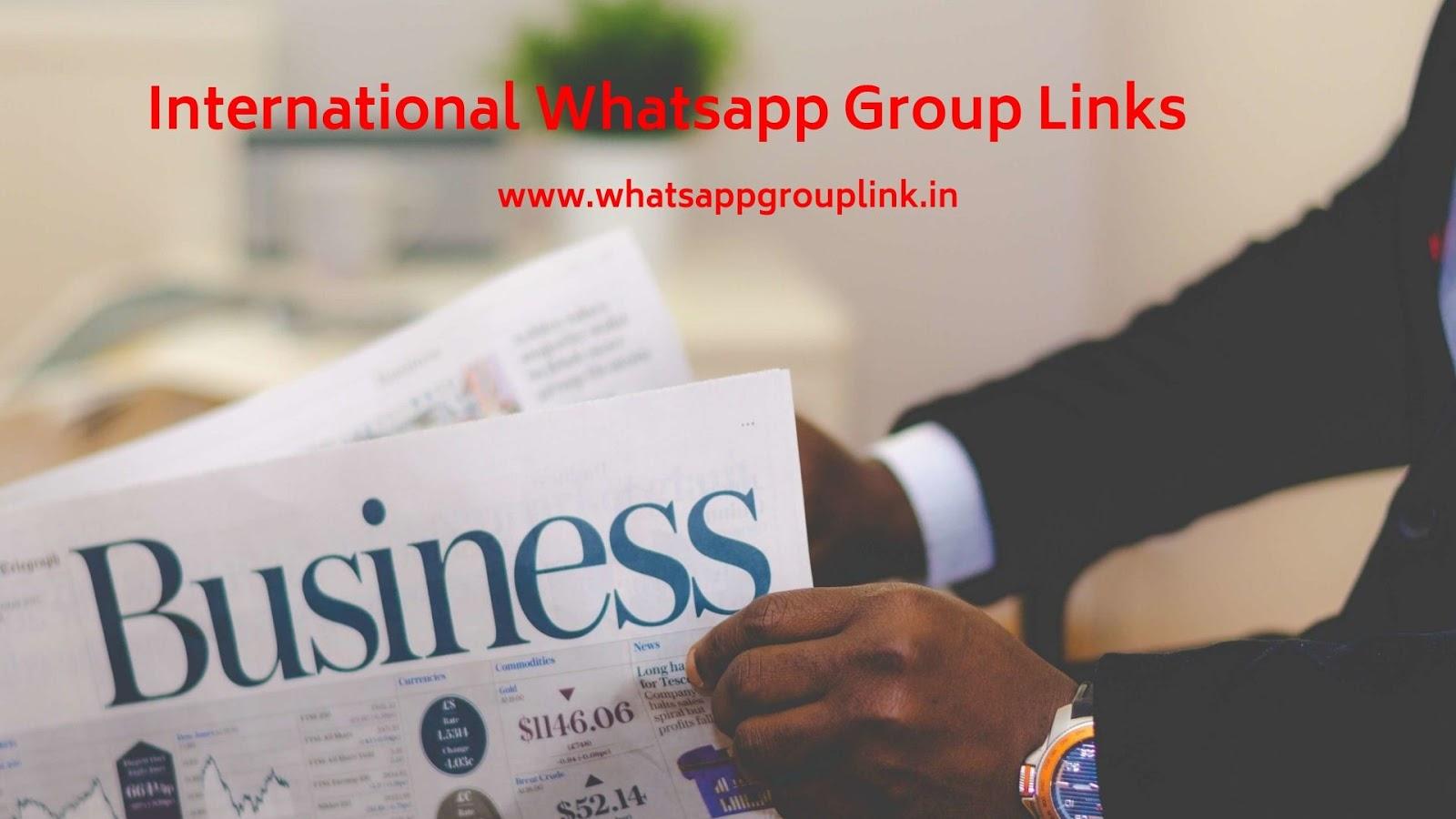 Whatsapp Group Link: International Whatsapp Group Links