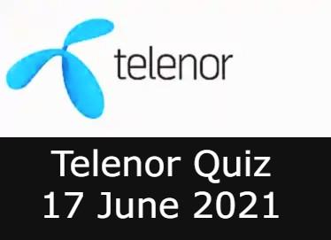 Telenor Quiz Answers 17 June