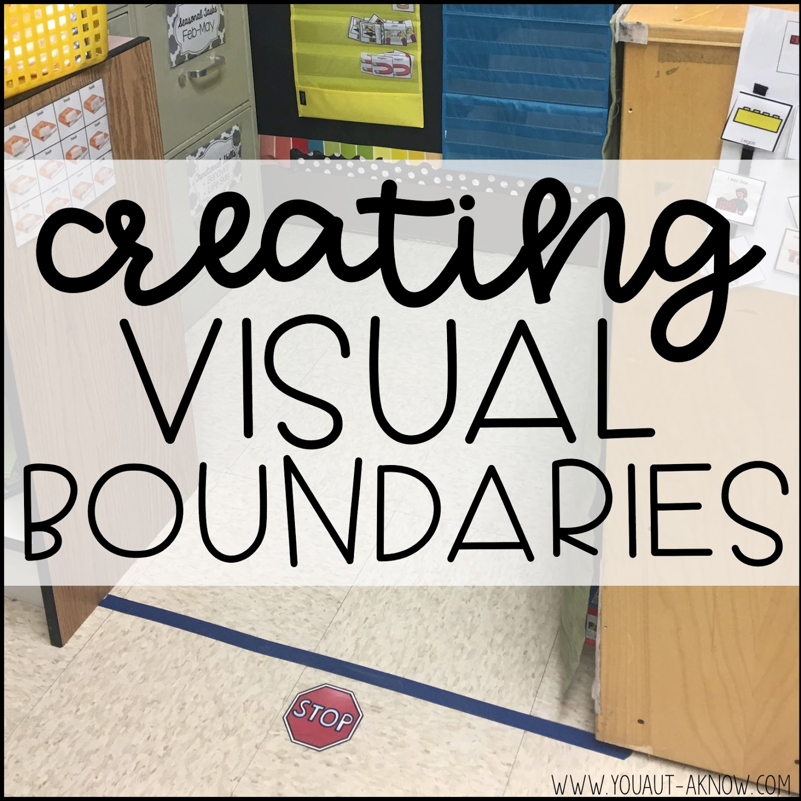 Do you have students who struggle to stay in designed spaces in the classroom? Check out how I create visual boundaries and implement a teaching strategy to help the students in my Autism classroom.
