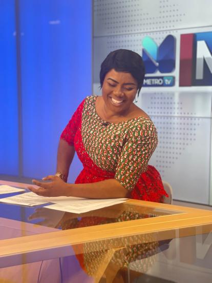 Watch Video as Bridget Otoo Broadcasts First News Segment On Metro TV