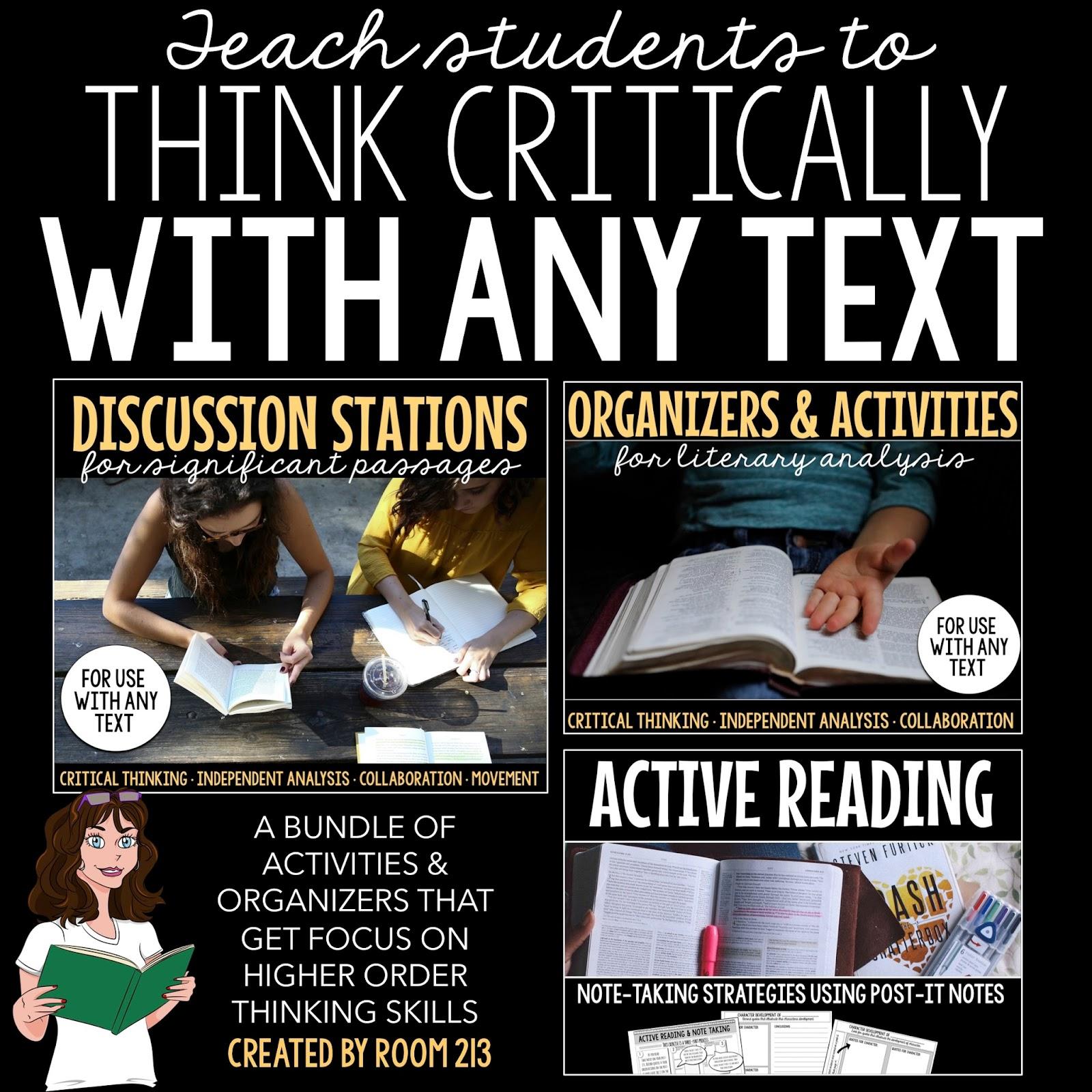 critical thinking activities high school english