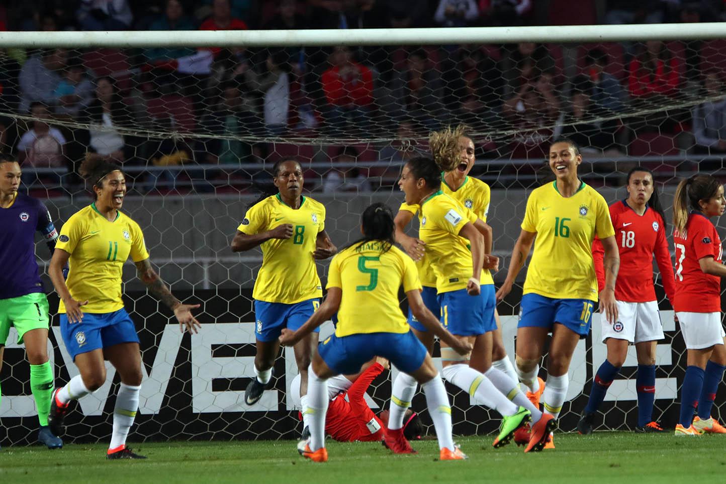 Brasil y Chile en Copa América Femenina 2018, 16 de abril