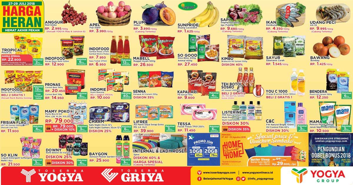 Yogya Group - Katalog Promo Harga Heran (27 - 29 Juli 2018)