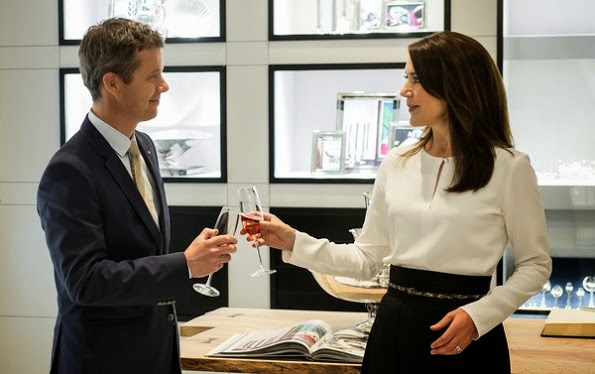 Princess Mary And Prince Frederik Visited Holsten Brewery In Hamburg