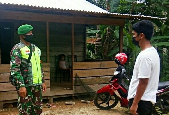 Babinsa Desa Dungai Ulu Sosialisasikan Vaksinasi Remaja Kepada Siswa SLTP Negeri 1 Bunguran Timur