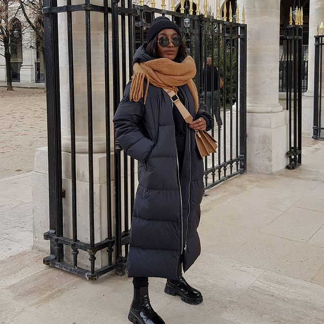 How To Style A Puffer Coat — @basicstouch in stylish winter outfit idea