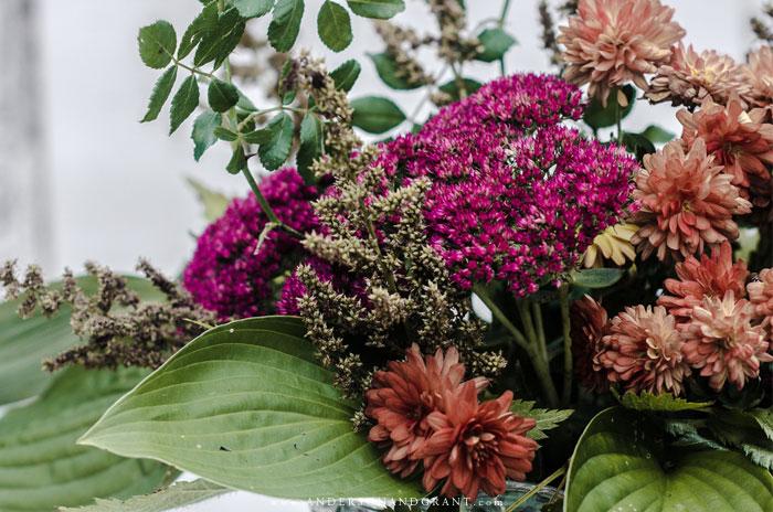 Fall flower arrangement.