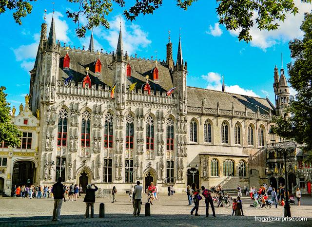 Stadhuis, sede da Prefeitura de Bruges, Bélgica