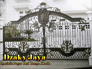 Contoh Gambar Pagar Tempa Klasik Dzaky Jaya.