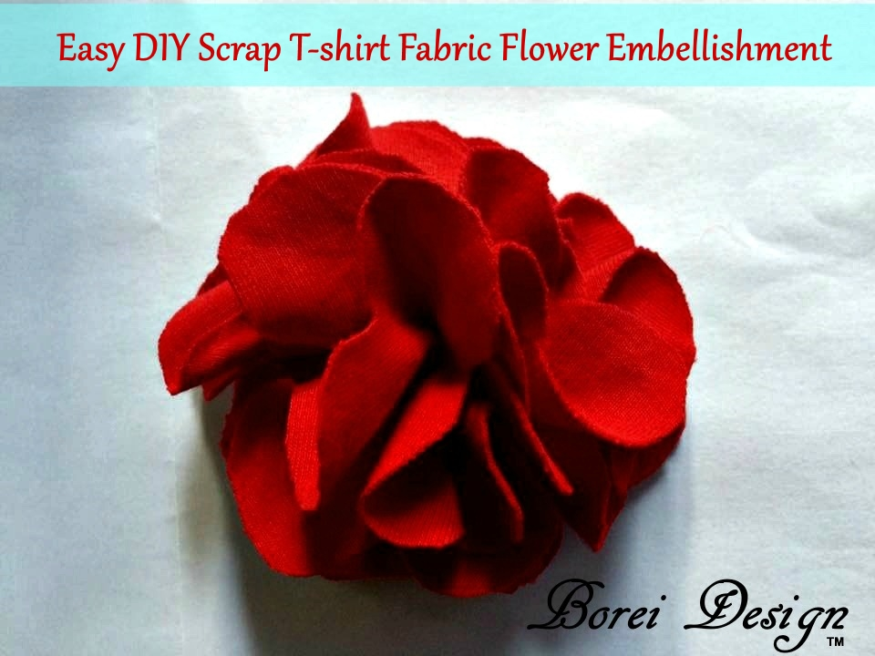 How To Make An Easy Scrap T-shirt Flower Brooch or ...