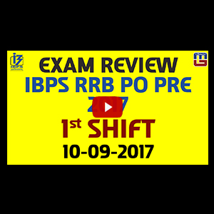 Exam Review With Cut Off | IBPS RRB PO PRE 2017 | 10 September-Ist Shift