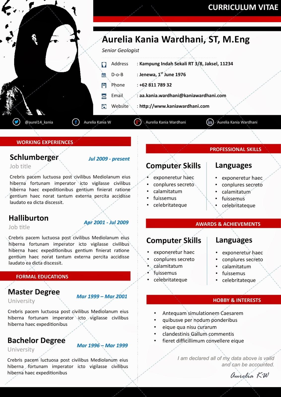 Contoh Resume Yang Lengkap Contoh Surat Lamaran Kerja Menarik 2016