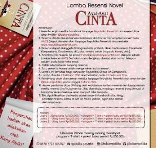 Lomba Resensi 2016 Novel Ayat-ayat Cinta 2