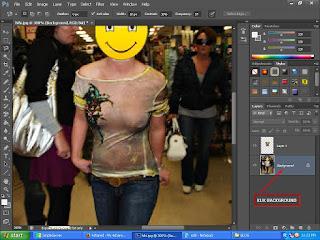 membuat baju pada foto menjadi tembus pandang