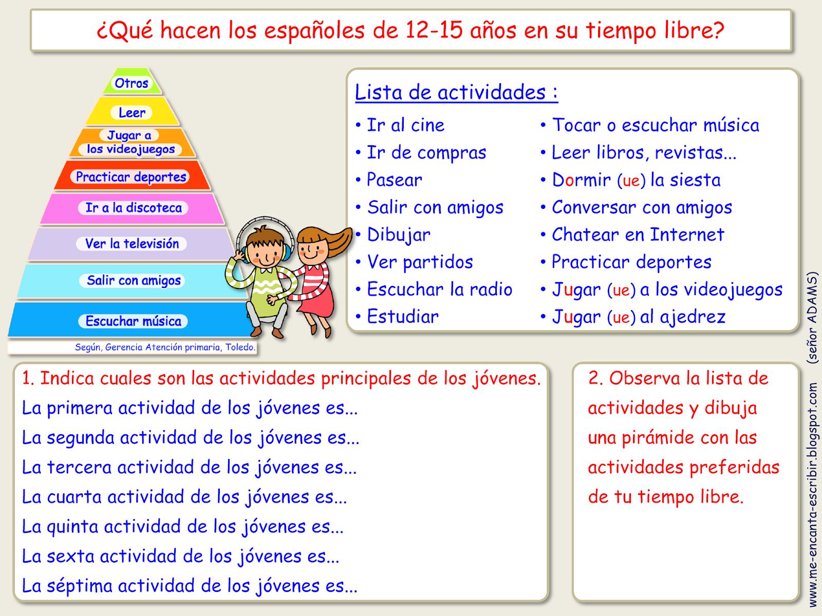 Me Encanta Escribir En Espanol Que Hacen Los Jovenes