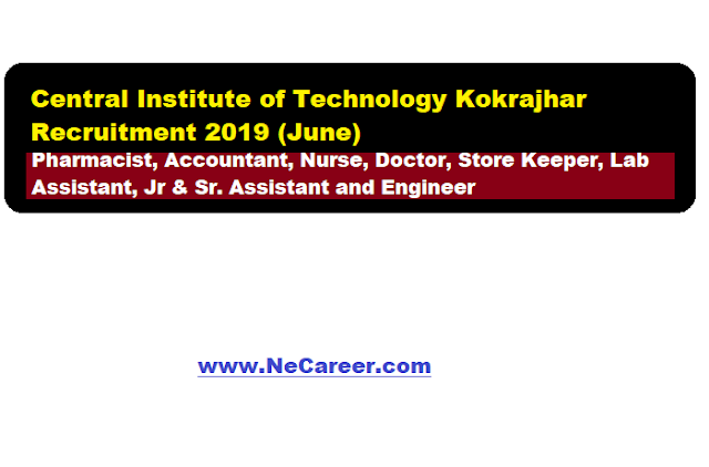 CIT Kokrajhar Recruitment 2019 (June)