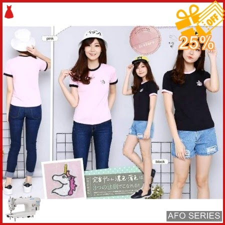 AFO453 Model Fashion Emboidery Unicorn Modis Murah BMGShop