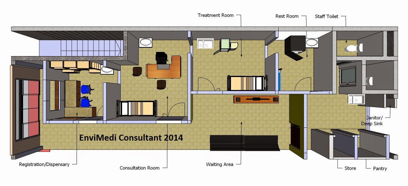 . We Setup Your Clinic   Healthcare Centre  Floorplan Layout for