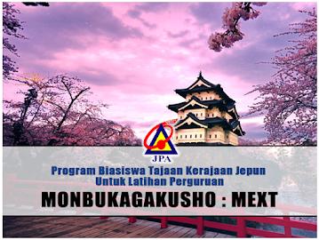 Biasiswa Kerajaan Jepun (Monbukagakusho: MEXT)