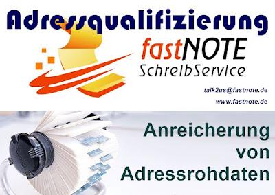 Adressqualifizierung Anreicherung von Adressrohdaten Büroservice