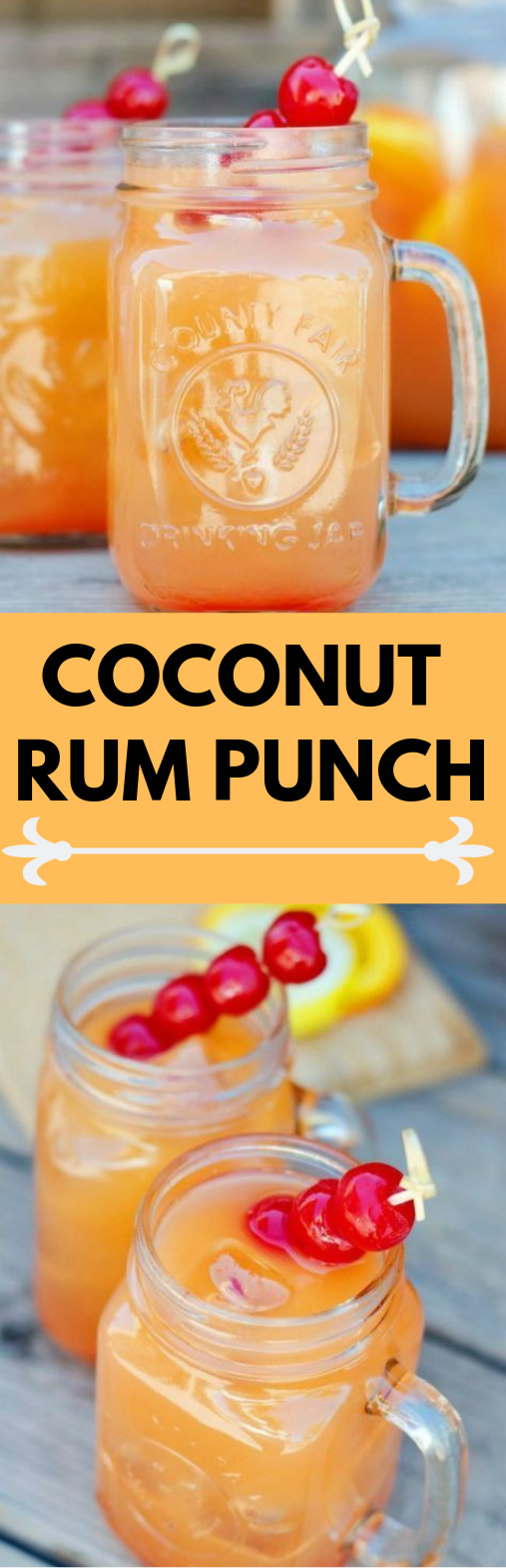 Coconut Rum Punch #drink #yummy