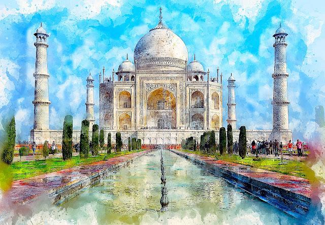 لوحات فنية لأماكن سياحية