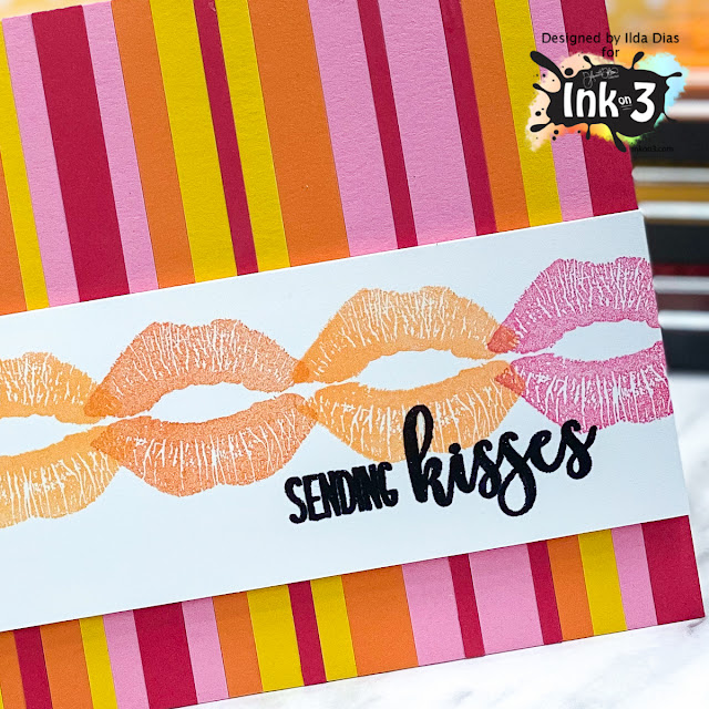 Hugs Kisses and Warm Wishes Valentine's Day Cards | Ink On 3 by ilovedoingallthingscrafty.com