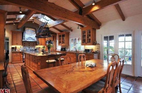 image result for kitchen before Malibu Mediterranean Modern Farmhouse Giannetti Home