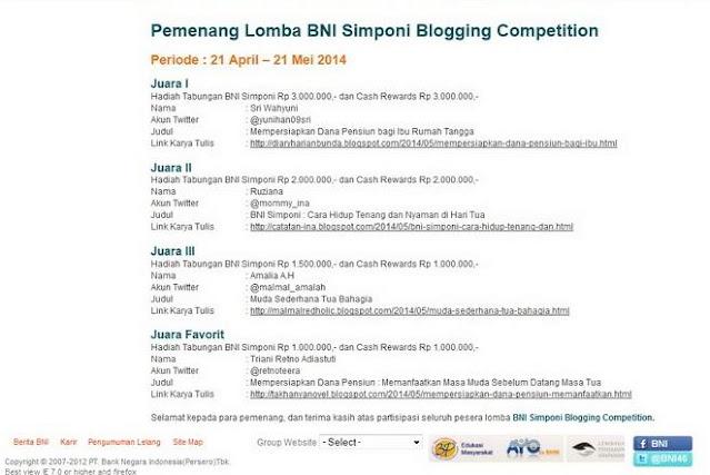 lomba blog BNI