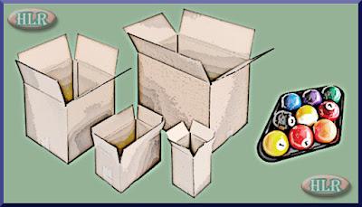 Cajas y bolas de billar