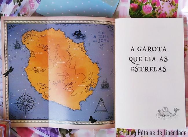 livro, A-Garota-que-Lia-as-Estrelas, Kiran-Millwood-Hargrave, Editora-Jangada, mapa, foto
