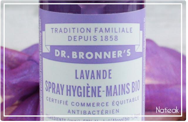 Dr Bronner's Spray hygiène mains bio à la lavande