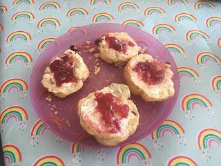 Rainbow scones