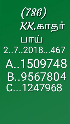 win win W 467 Kerala Lottery Guessing abc numbers  02-07-2018 by KK