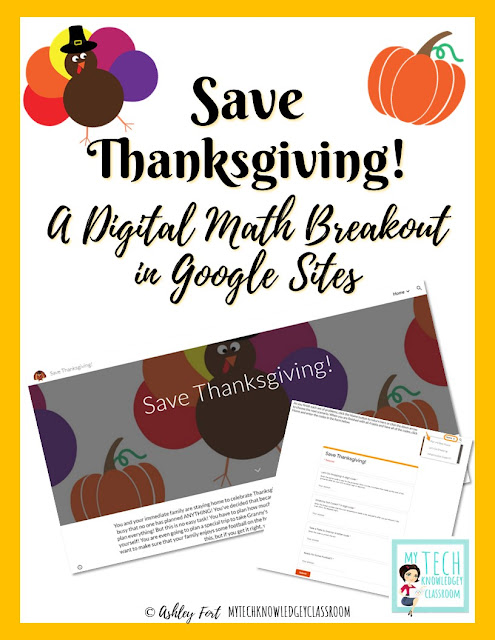 Save Thanksgiving! 2020 A Digital Math Breakout with Google Sites