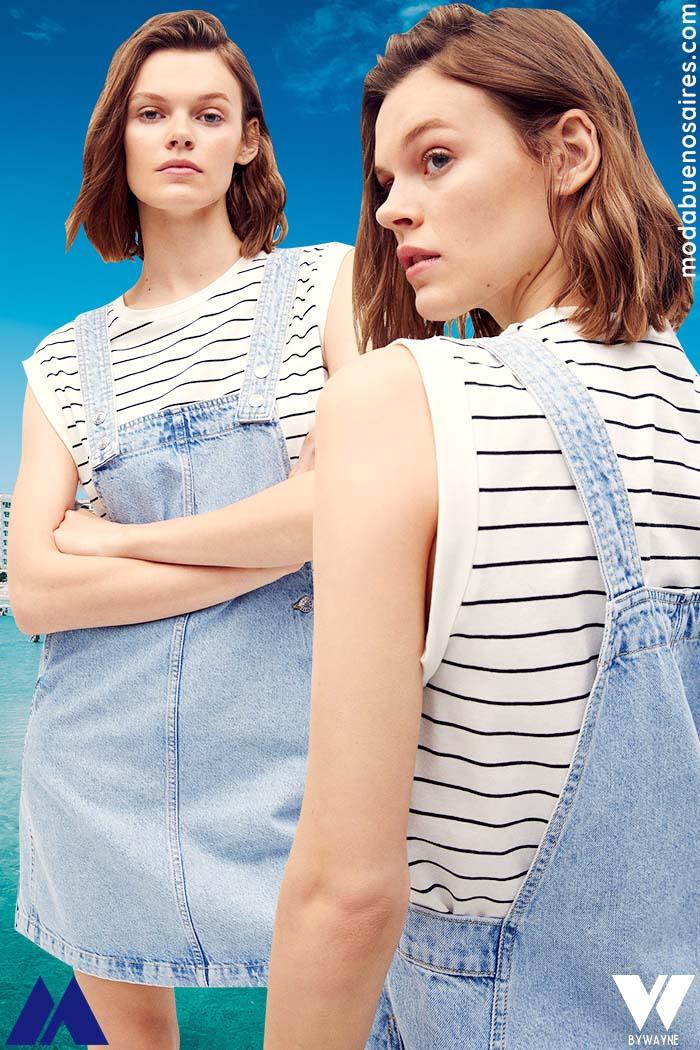 enterito de jean vestido verano 2022