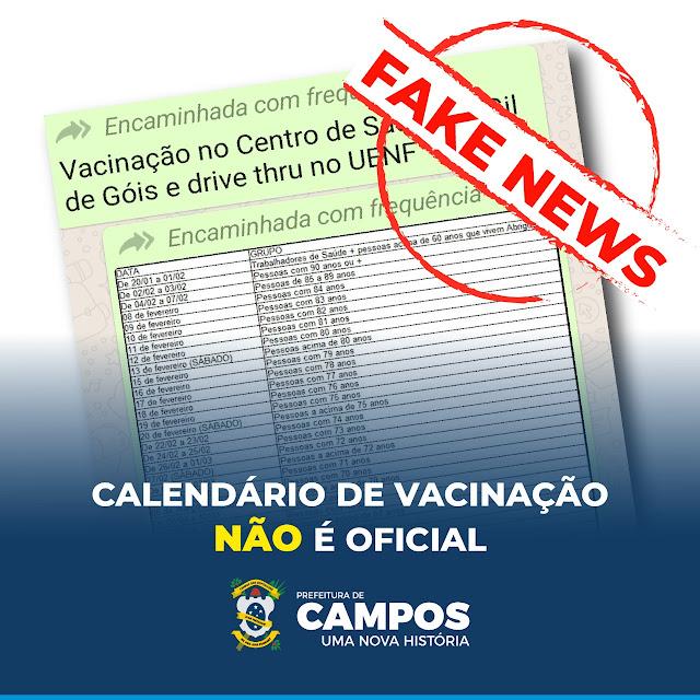 Calendário de vacinação contra Covid-19 divulgado