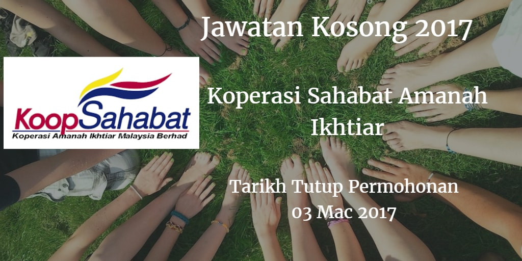 Jawatan Kosong Koperasi Sahabat Amanah Ikhtiar 03 Mac 2017