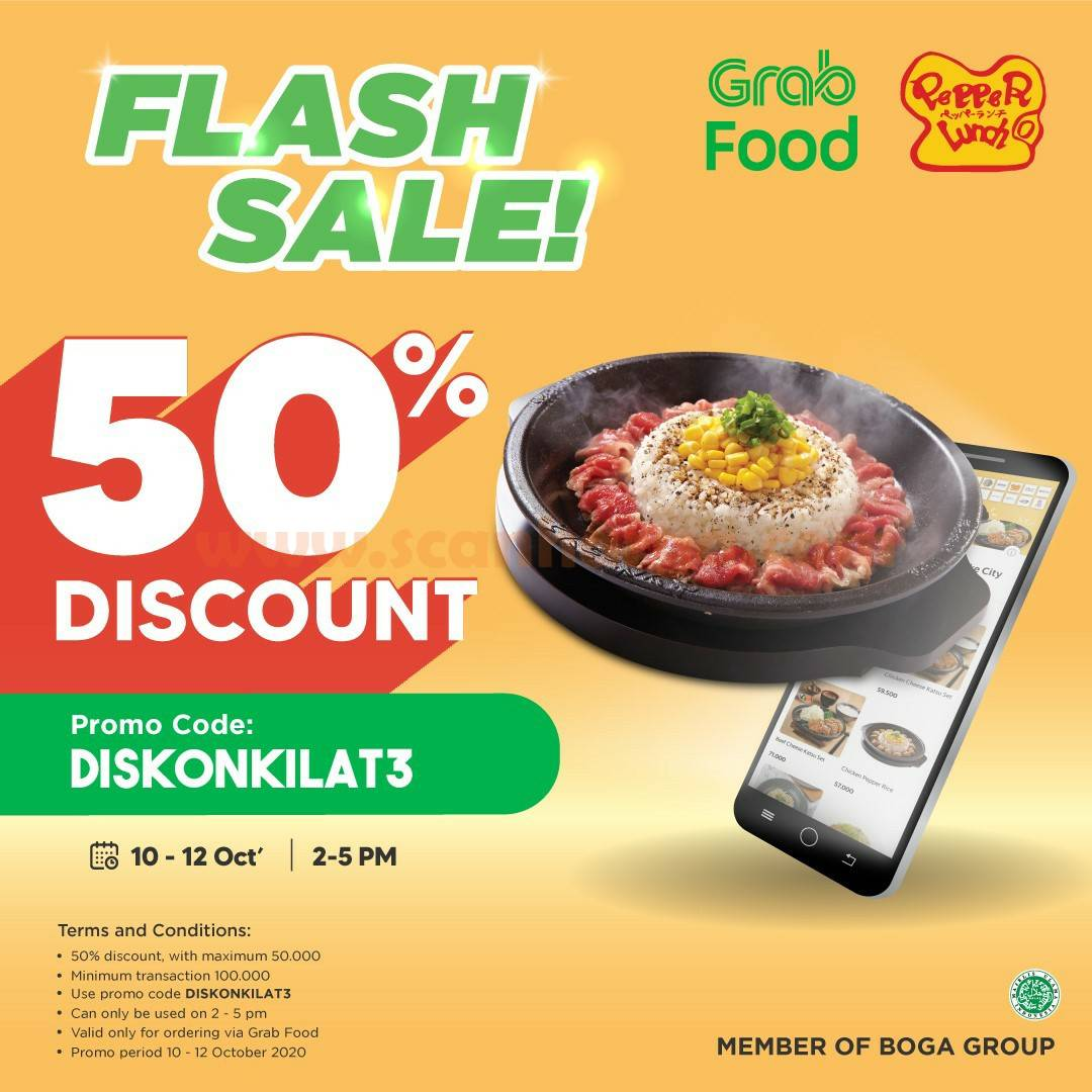 Promo Pepper Lunch Grabfood Flash Sale Discount Up to 50% Off