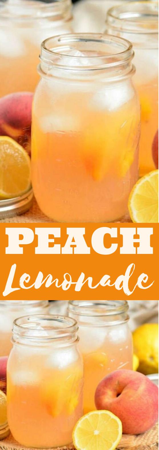 Peach Lemonade #drinks #recipe #refreshing #lemonade #beverages