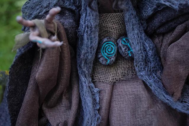 Elven runes fantasy creature ooak artdoll