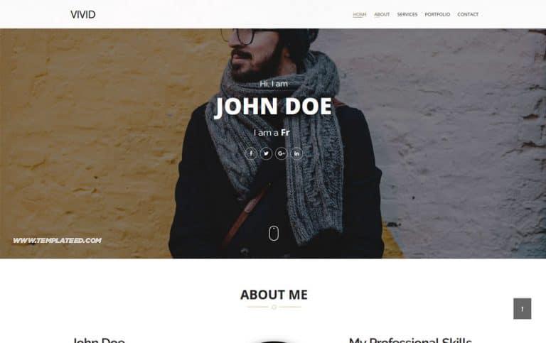 Responsive Portfolio Blogger Templates