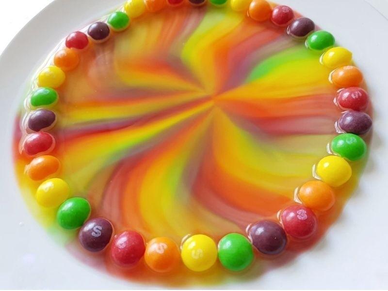 skittle rainbow up close