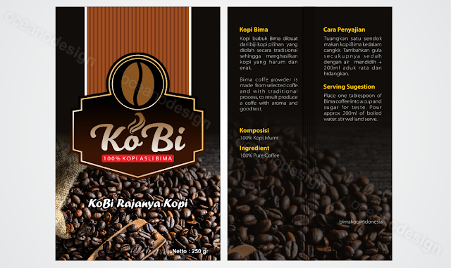desain kemasan kopi bima