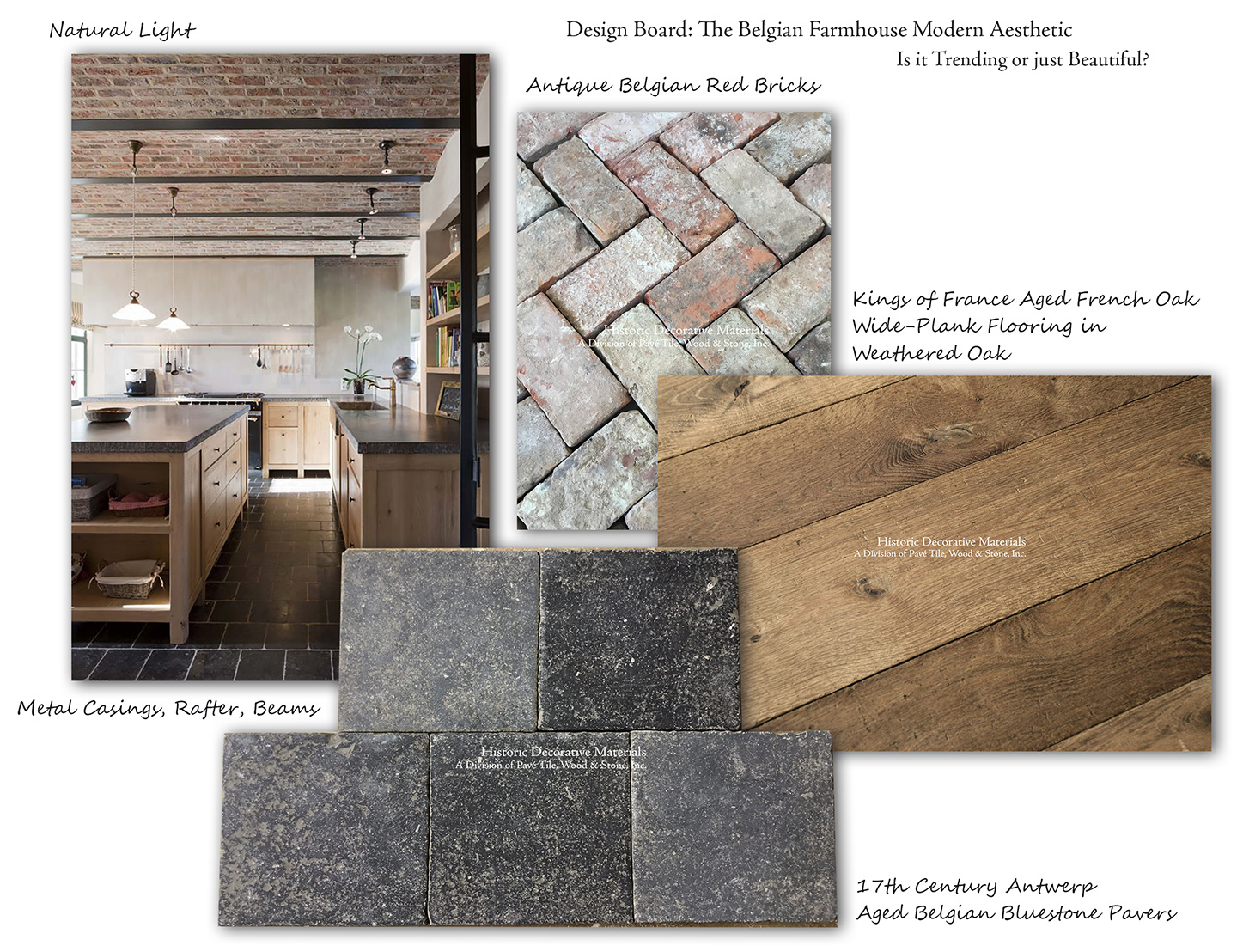 Aesthetic Paver Stone The Cobblestone Path - The Pavé Tile, Wood u0026 Stone Blog: Design Board: The  Belgian Farmhouse Modern Aesthetic