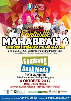 Karnival Fantastik Mahabbah 6.0 Di Universiti Malaysia Pahang