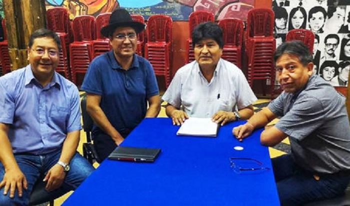 Morales con Arce y Choquehuanca, este fin de semana, en Buenos Aires / TWITTER